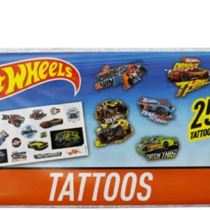 EP Line Tetování HW Hot Wheels start set 25 mini tetovaček na tělo pro kluky
