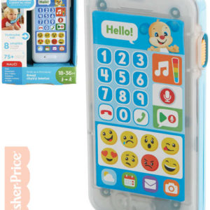 FISHER PRICE Baby interaktivní telefon chytrý Emoji CZ Světlo Zvuk pro miminko