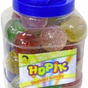 Hopík krystal 4cm třpytivý balonek skákací hopskulička 6 barev guma
