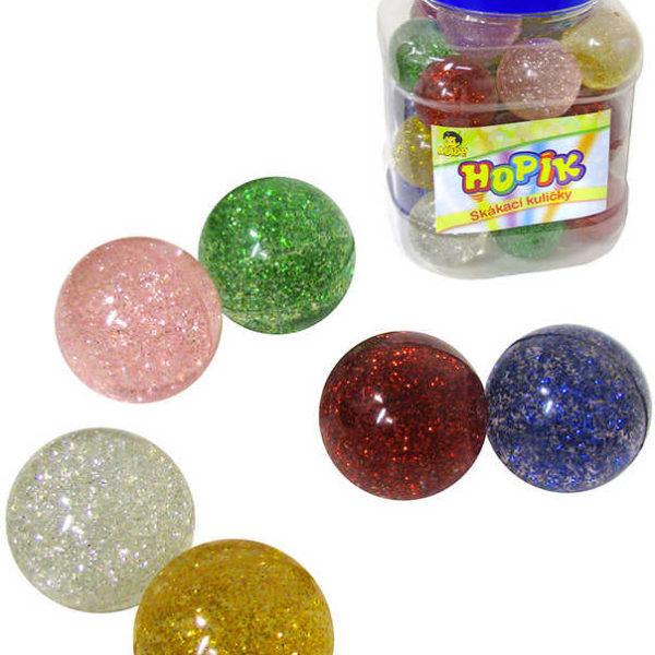 Hopík krystal 4cm třpytivý balonek skákací hopskulička 6 barev