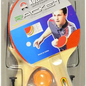 Pinpongový set pálka 2ks + míček 3ks se síťkou na stolní tenis