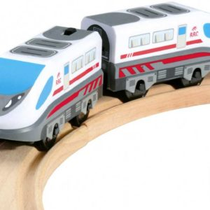 BINO Vlak rychlostní set lokomotiva + vagonek na baterie v krabici