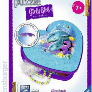 RAVENSBURGER Puzzle 3D Srdce podmořský svět 54 dílků skládačka v krabici