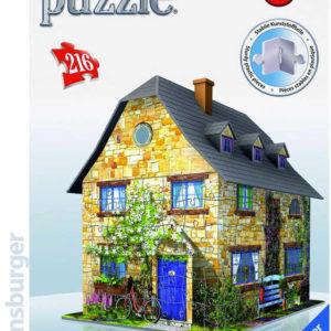 RAVENSBURGER Puzzle 3D model anglický domek 216 dílků skládačka v krabici