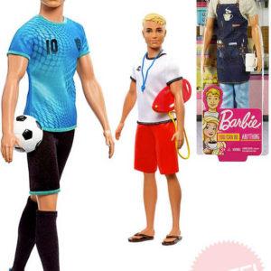 MATTEL BRB Barbie panák Ken povolání tematický set s doplňky 4 druhy