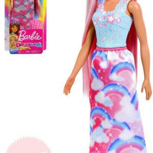 MATTEL BRB Panenka Barbie dlouhovláska set s hřebenem Dreamtopia