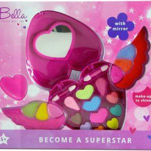 Make up Bella srdíčko dětská zkrášlovací sada v pouzdře se zrcátkem