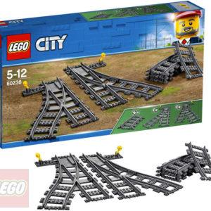 LEGO CITY Výhybky a zahnuté koleje doplněk k vláčkodráze 60238 STAVEBNICE