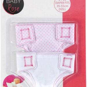 Baby Rose plenkové kalhotky látkové pro panenku miminko set 2ks na kartě