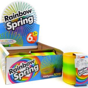 Pružina magická Rainbow Spring duhová spirála plast v krabičce