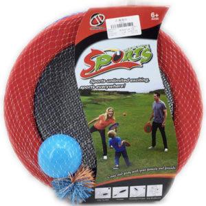 Hra Catch Ball 30cm set 2 talíře + 2 míčky plast v síťce