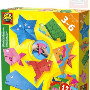 SES CREATIVE Skládání origami skládačky z papíru kreativní set v krabici