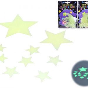 Hvězdy svítící ve tmě fosforeskující sada v sáčku 4 druhy