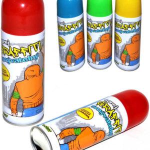 Křídy dětské tekuté smývatelné ve spreji 250ml graffiti spray 4 barvy