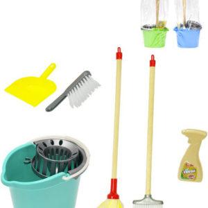Malá uklízečka sada úklidová kbelík s mopem a doplňky 3 barvy v sáčku