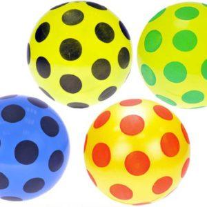 Míč s puntíky 22cm plastový balon 4 barvy