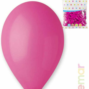 GEMAR Balónek nafukovací 26cm Pastelový FUCHSIOVÝ 1ks