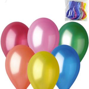 GEMAR Balónky nafukovací 26cm Metalické barevné set 10ks v sáčku