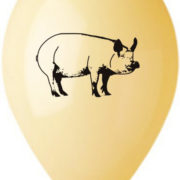 GEMAR Balónek nafukovací 26cm Pastelový potisk FARMA různé barvy 1ks