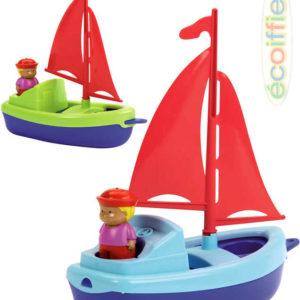 ECOIFFIER Plachetnice loďka 24cm s námořníkem do vody plast 2 barvy