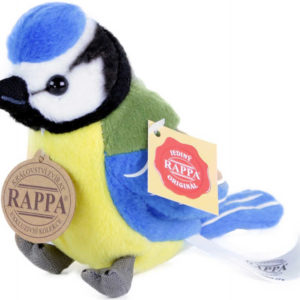 PLYŠ Sýkora modřinka 11cm ptáček na baterie Zvuk PLYŠOVÉ HRAČKY
