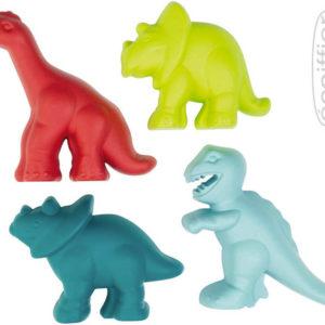 ECOIFFIER Formičky zvířátka dinosaurus 10cm set 4ks v síťce plast