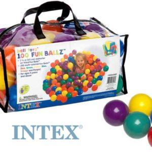 INTEX Míčky 6,5 cm set 100ks do hracích koutů nebo bazénů 49602