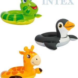 INTEX Kruh dětský nafukovací s hlavičkou zvířátka do vody 3 druhy 59220