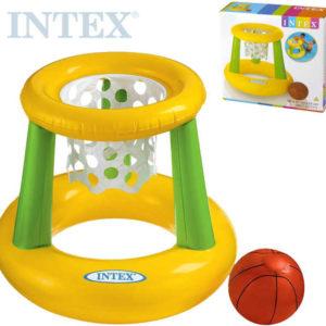 INTEX Set koš nafukovací basketbalový s míčem na košíkovou do vody 58504