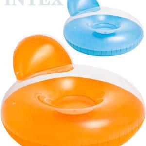 INTEX Kruh s opěrkou 137x122cm nafukovací sedačka do vody 2 barvy