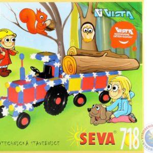 VISTA SEVA Traktor Větrný mlýn polytechnická STAVEBNICE 718 dílků