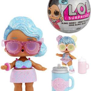 L.O.L. Surprise Panenka slavnostní třpytková s doplňky v kouli zábavný set 7 překvapení