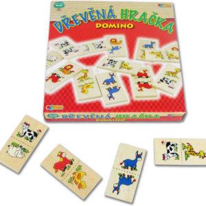 DŘEVO Hra Domino zvířátka DŘEVĚNÉ HRAČKY