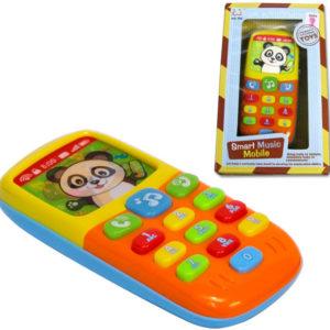 Dětský tlačítkový telefon 13cm mobil s obrázkem z plastu Světlo Zvuk