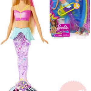 MATTEL BRB Panenka Barbie Dreamtopia mořská panna pohyblivý ocas na baterie Světlo