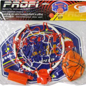 Basketbalový set deska 33x25cm s košíkem a míčem 12cm v sáčku