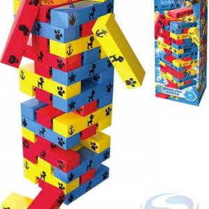 SPIN MASTER Hra vratká věž Jenga Tlapková Patrola set 48 kostek v krabici