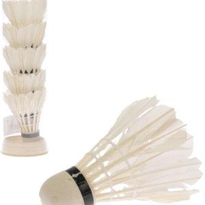 Košíčky na badminton míčky péřové bílé 2-Play sada 6ks v tubě