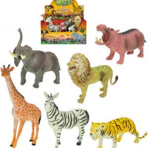 Zvířátka safari 15-20cm plastová figurka 6 druhů