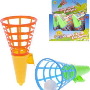 Hra catch ball 21cm set 2 košíky s míčkem v sáčku plast