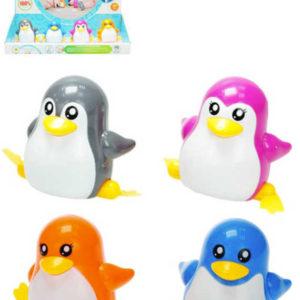 Tučňák plastový na klíček 7cm chodící 4 barvy