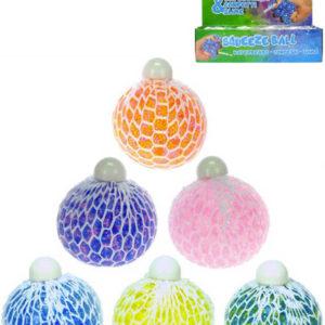 Míček síťkový strečový 7cm antistresový s bublinami 6 barev