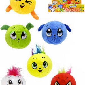 PLYŠ Baby míček měkký strečový 10cm veselý s obličejem 6 druhů pro miminko